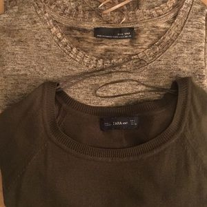 Zara Tops - 2 Zara Knit Long Sleeve Blouses, Perfect Condition